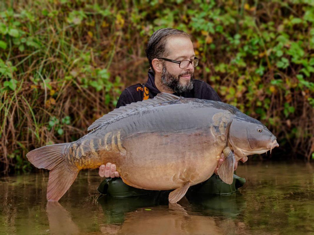 Gericht vissen op grote karper