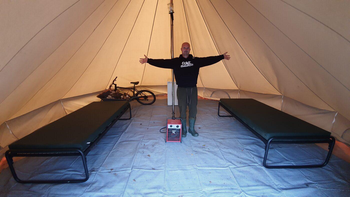 De Bell-tenten zijn enorm ruim