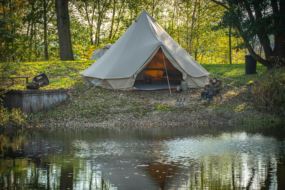 Ruime stekken met luxe Bell-tenten