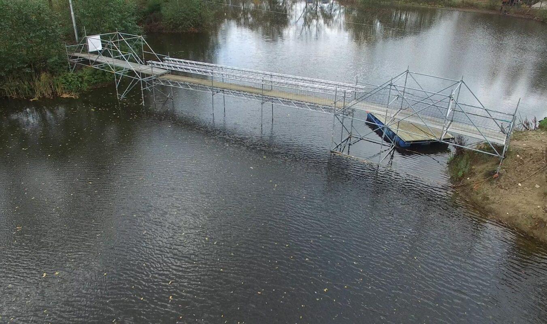 De brug tussen stek 2 en 3