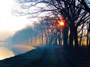Eenzaam op de Belgische kanalen