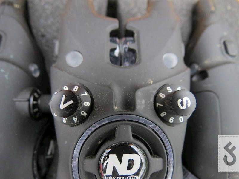 De knoppen van de ND Tackle K9 beetmelder