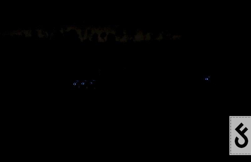 De nightlights zorgen ervoor dat je de beetmelders vanaf het water kunt zien, maar ook vanaf de tent