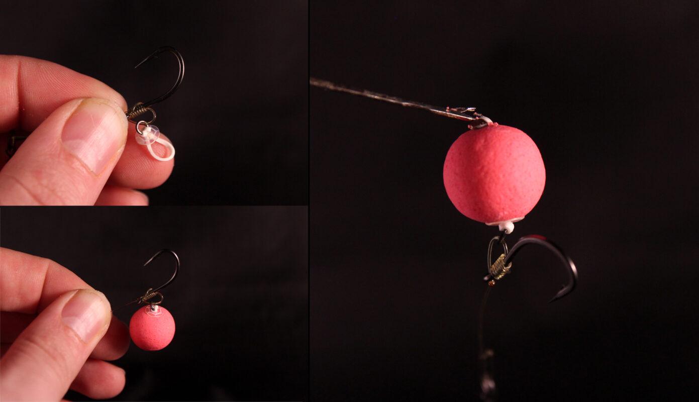 Optie 3 - Bevestig een elastiekje aan de rigring en rijg deze door de pop-up