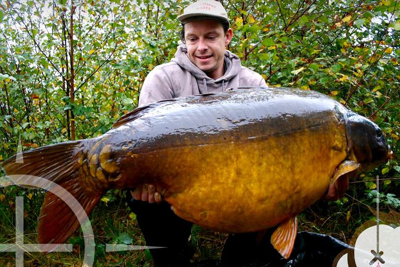 Kurt Cauwenberge met de Mohikaan op 40 kilo