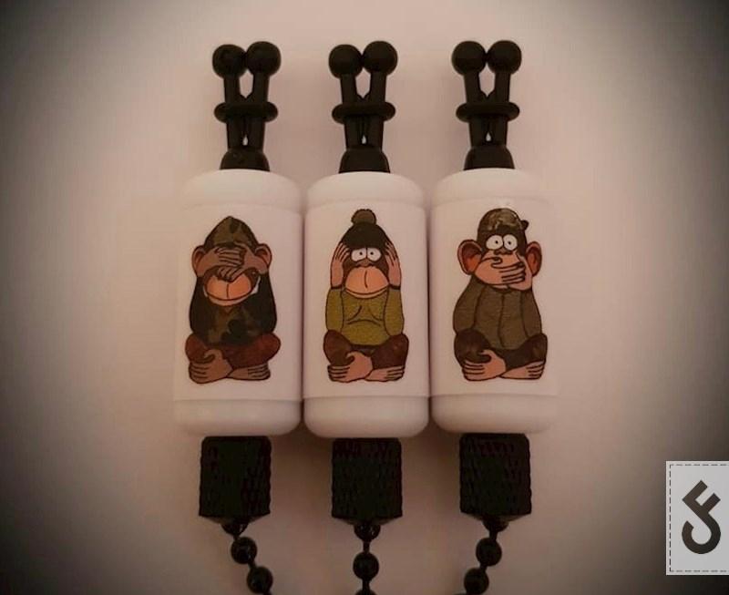 Three Unwise Monkey Bobbin Indicator Sets.