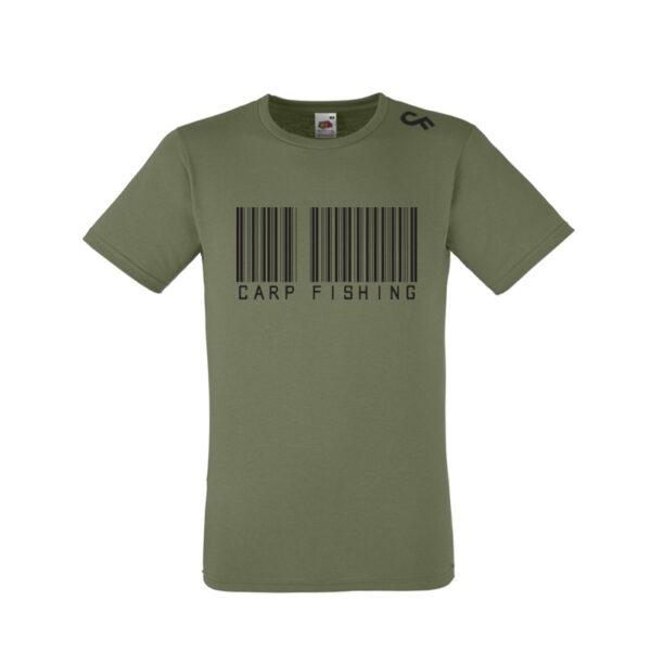 Shirt Barcode olive - CarpFeeling webshop