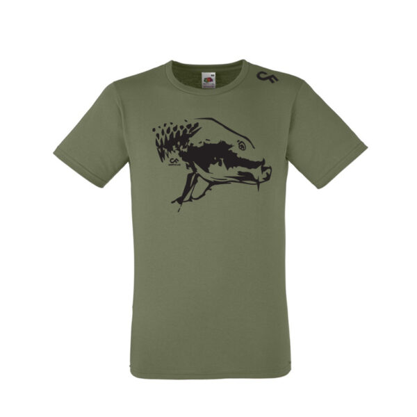 Shirt Karperkop olive - CarpFeeling webshop