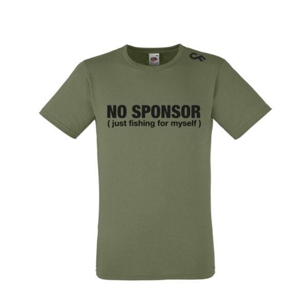 Shirt No Sponsor olive - CarpFeeling webshop
