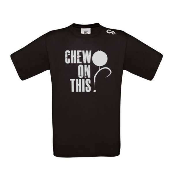 Shirt Chew on This zwart - CarpFeeling webshop