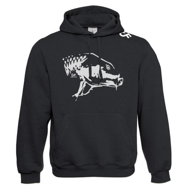 Premium hoodie karperkop - CarpFeeling webshop