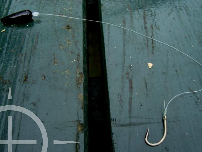 Een schuivende loodmontage voor het vissen aan de oppervlakte