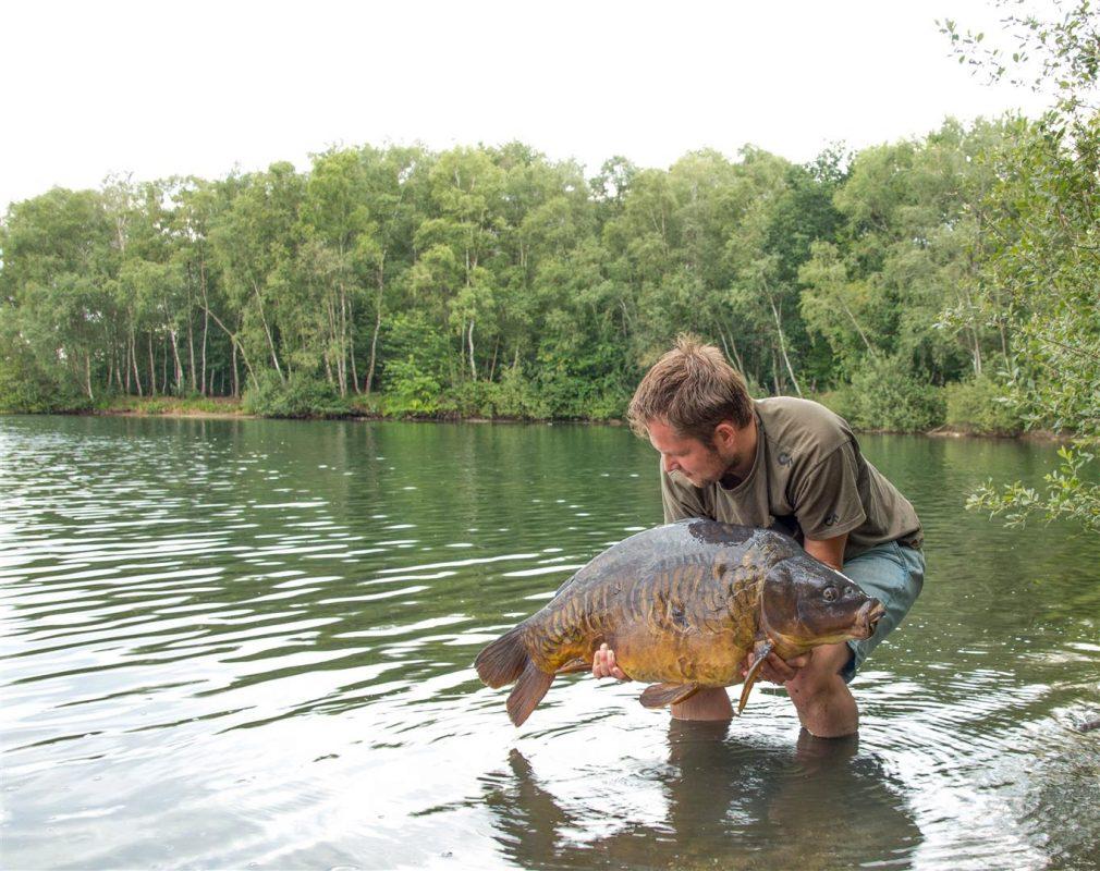 Een prachtige vis die mijn haakaasjes wel lijkt te waarderen